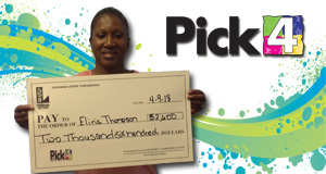 Eliria Thompson won 2,600 playing Pick 4