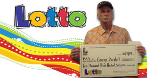 George Kendall won 2,366 playing Lotto