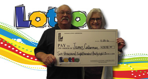 James Callarman won 2,838 playing Lotto