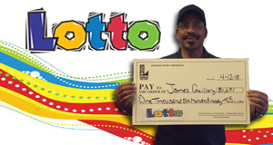 James Guillory won 1,691 playing Lotto