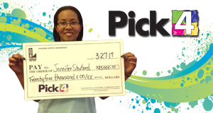 Jennifer Shuford won 25,000 playing Pick 4