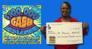 Jo Hamilton's $100,000 Cash Explosion winner photo