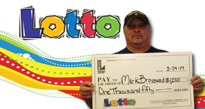 Mark Broussard won 1,250 playing Lotto