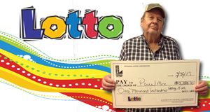 Paul Mire won 1,285 playing Lotto