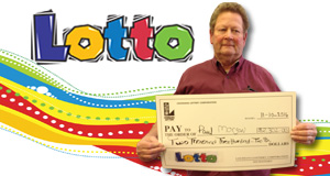 Paul Morgan won 2,302 playing Lotto