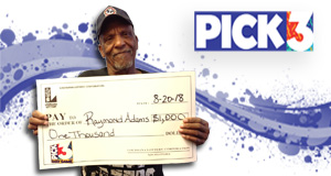 Raymond Adams won 1,000 playing Pick 3