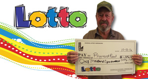 Raymond Paul's Lotto winner photo