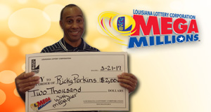 Ricky Perkins won 2,000 playing Mega Millions