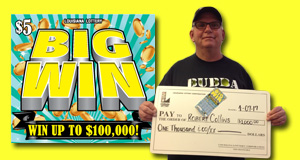 Robert Collins won 1,000 playing Big Win