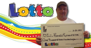 Ronald Richard won 1,744 playing Lotto