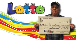 Scott Landry won 2,367 playing Lotto