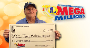Terry McFarlain won 1,000 playing Mega Millions