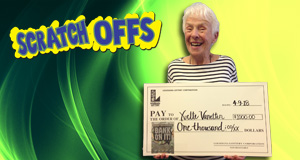 Yvette Van Etten won 1,000 playing Bank On It!