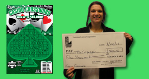 Kristina Culpepper won 1,000 playing Casino Crossword