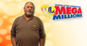 Luther Barnett's Mega Millions winner photo
