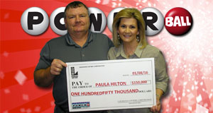 Paula Hilton's Powerball winner photo