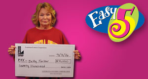 Betty Farlow won 70,000 playing Easy 5