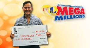 Chad Rigby won 500 playing Mega Millions