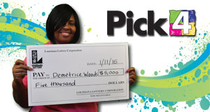 Demetrice Woods's Pick 4 winner photo