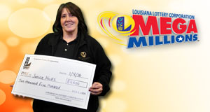 Janice Hicks won 2,500 playing Mega Millions