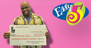 Michael Page's Easy 5 winner photo