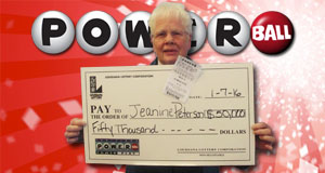Jeanine Peterson won 50,000 playing Powerball