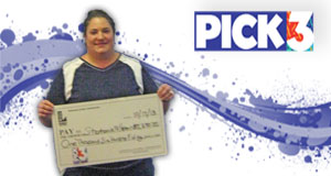 Stephanie Hebert won 1,650 playing Pick 3