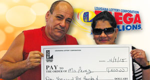 Yanulqui Perez won 1,500 playing Mega Millions
