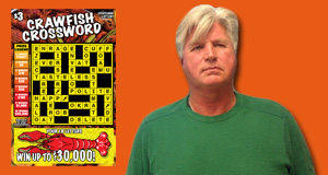 Allen Gibson won $30,000 playing Crawfish Crossword