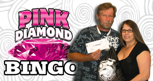 Scott Matherne won $30,000 playing Pink Diamond Bingo