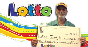 Tommy Pitre won 2,386 playing Lotto